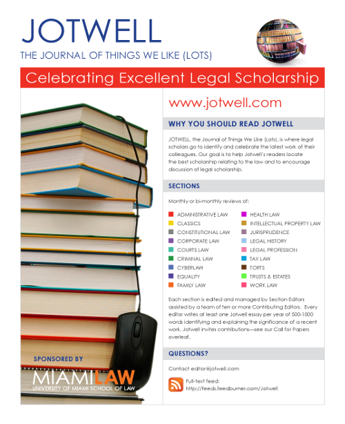 Jotwell Flyer - click for hi-res